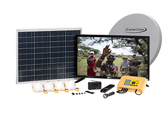 Solar satellite TV system for off-grid Africa