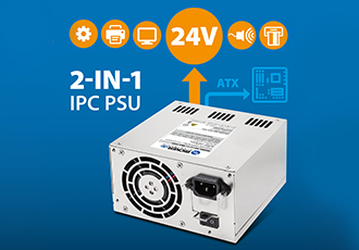 Two in one IPC ATX Power Supply with additional +24V DC output