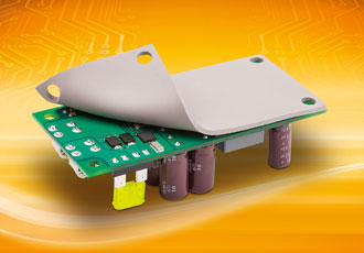 DC/DC converter features three selectable output voltages