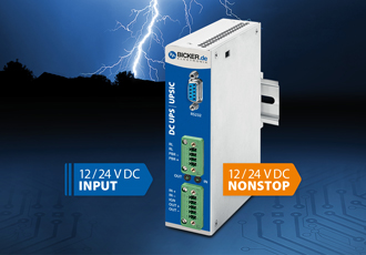 Maintenance-free DC UPS modules for DIN rail mounting