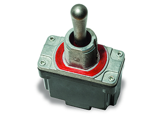 Sealed power toggle switches for wet environments