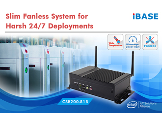 Slim fanless system designed for harsh 24/7 deployments