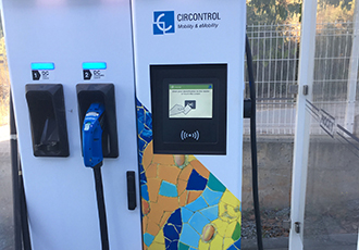 Ultra-fast charging stations incorporate touch technology