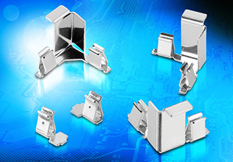 Ultra-compact shield clips for space-constrained designs