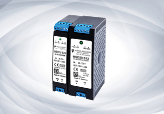 DIN Rail DC/DC converters provide 15 + 30W