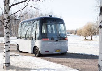 The first all-weather robot bus runs on Nokian Hakkapeliittas