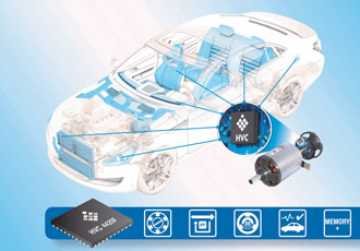 Motor controller with extended memory for automotive applications