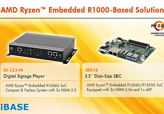 Two AMD Ryzen embedded R1000-based solutions unveiled