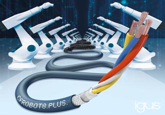 Ethernet robot cable enables fast and reliable communication