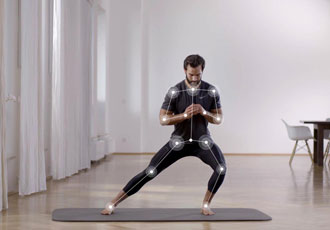 Virtual personal trainer provides real time audio feedback