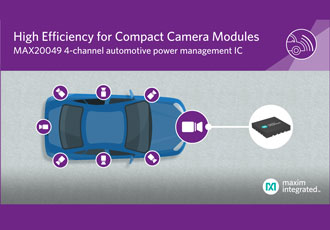 Compact power management IC for vehicle camera modules