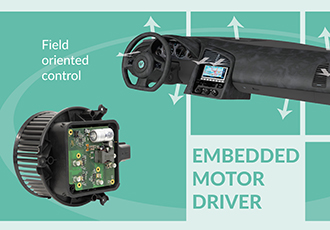 Smart embedded motor drive portfolio for automotive applications