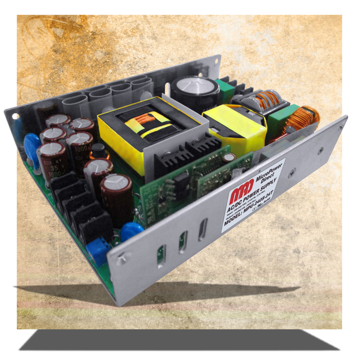 Compact PFC AC/DC power supply are compact for industry