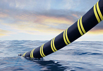 High voltage cable to world record water depth