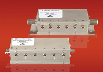 Relay controlled programmable attenuators for range of frequencies