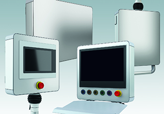 HMI/machine controller enclosures now in standard sizes