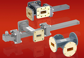 Cross guide couplers with waveguide ports