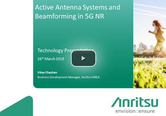 Active antenna systems and beamforming in 5G NR webinar
