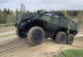 Finnish Defence Forces receive 6x6 protected multi-purpose vehicle