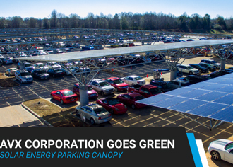 Solar energy parking canopy helping companies go green