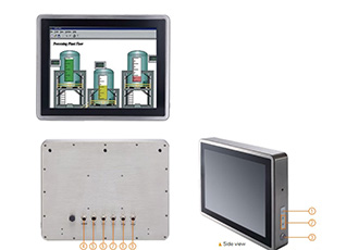 Stainless steel fanless touch panel computer