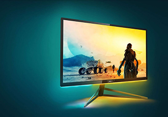 Console gaming monitor with 4K UHD display