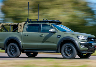 Ricardo demonstrates militarised version of Ford Ranger