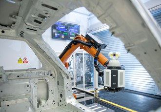 Robotic laser system to accelerate automotive quality inspection