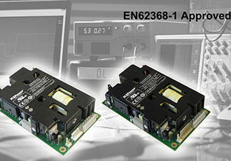 Power supply family with EN62368-1 approvals