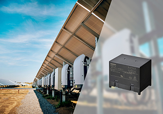 High power relay features low heat generation