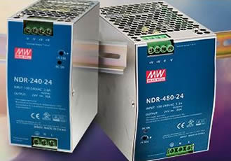 240 & 480W DIN-rail supplies address space constraints