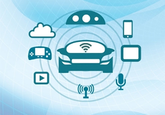Automotive infotainment system using NFC transponder