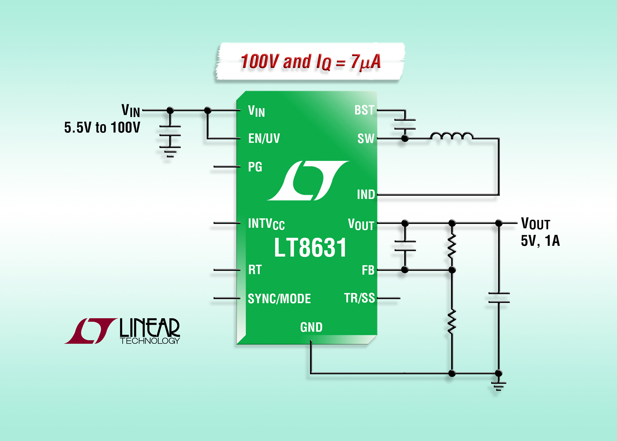 Synchronous Buck Regulator Consumes Just 7a Quiescent High Power Converter
