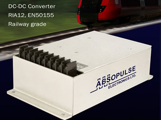 Railway DC/DC converters offer RIA12 surge withstand capacity