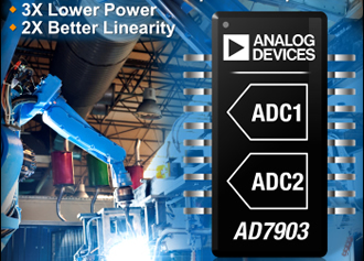 ADCs feature pseudo differential & differential inputs
