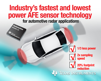 Detect road hazards with AFE sensor technology