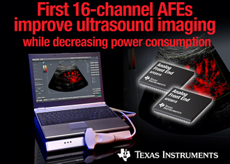 The industry's first 16-channel ultrasound AFEs