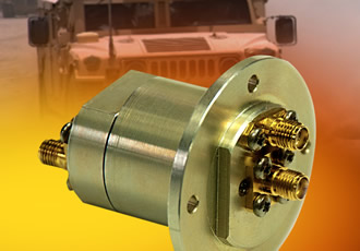Compact rotary joint for use in Ka-band applications