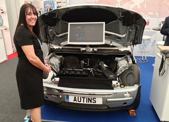 Automotive technologies showcased in adapted Mini One