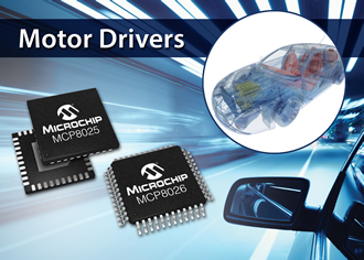 BLDC motor gate drivers consume 5µA in sleep mode