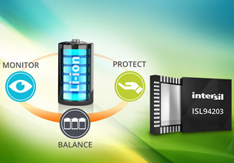 Battery pack monitor protects & balances cells