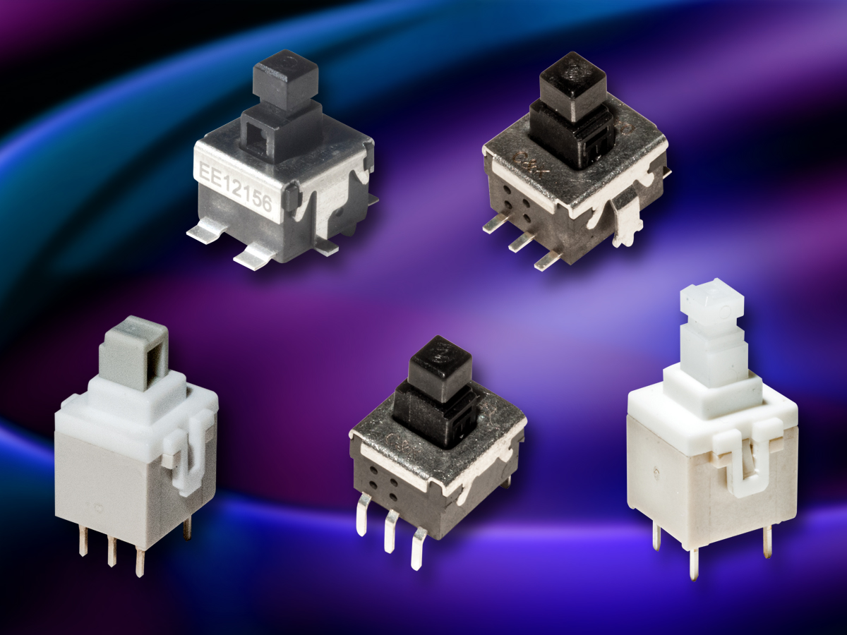 PCB switches offer range of mounting options