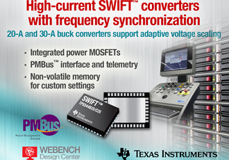 DC/DC buck converter offers reduced EMI/EMC & PMBus