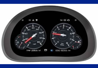 Digital instrument cluster solution features 3D graphics
