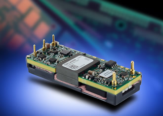 Eighth brick DC/DC converters feature an efficiency of 95.5%