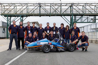 Engineering students take to the track at Silverstone