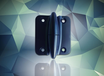 Torpedo hinge now available in black