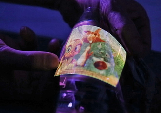 Full-colour AMOLED display is glass-free & flexible