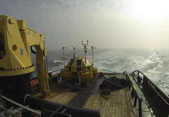 Floating buoy's wind lidar collects metocean data
