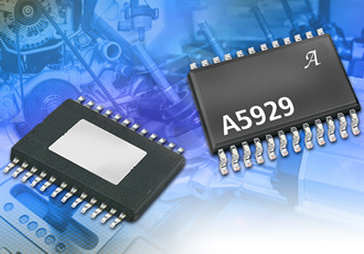 Full-bridge gate IC drives automotive power MOSFETs